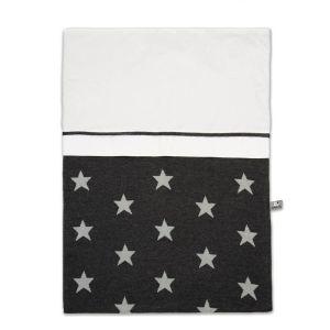 Housse de couette Star anthracite/gris - 100x135