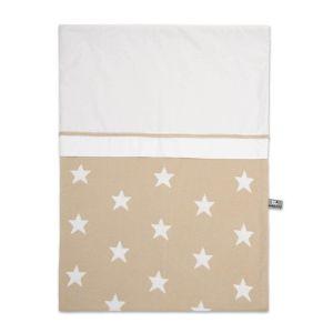 Housse de couette Star beige/blanc - 100x135