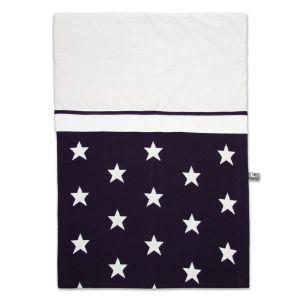 Housse de couette Star marine/blanc - 100x135