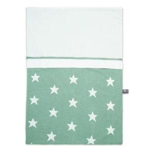 Housse de couette Star mint/blanc - 100x135