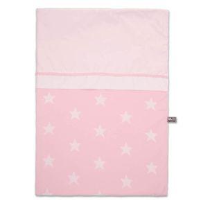 Housse de couette Star rose/blanc - 100x135