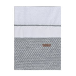 Housse de couette Sun gris/gris argenté - 100x135