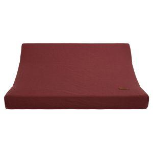 Housse matelas à langer Breeze stone red - 45x70