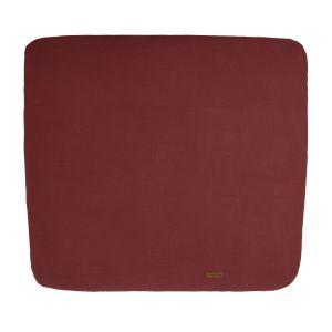 Housse matelas à langer Breeze stone red - 75x85