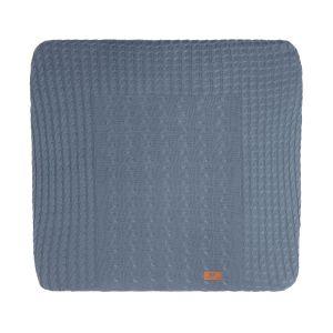 Housse matelas à langer Cable granit - 75x85