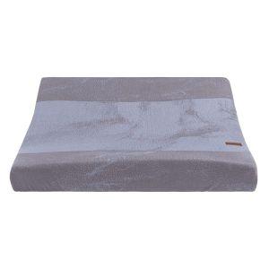 Housse matelas à langer Marble cool grey/lilas
