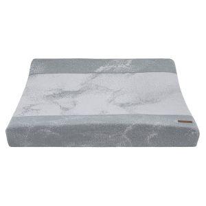 Housse matelas à langer Marble gris/gris argenté