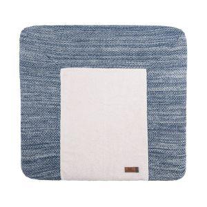 Housse matelas à langer River jeans/gris mêlé - 75x85