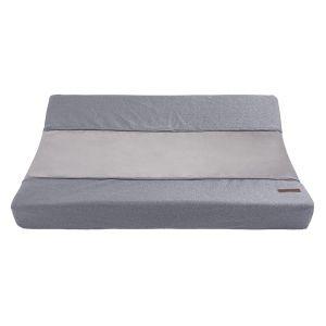 Housse matelas à langer Sparkle gris-argent mêlé - 45x70