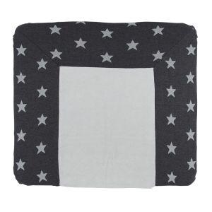 Housse matelas à langer Star anthracite/gris - 75x85