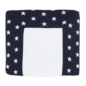 Housse matelas à langer Star marine/blanc - 75x85