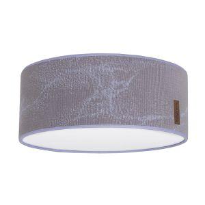 Lampe de plafond Marble cool grey/lilas - Ø35 cm