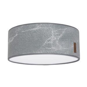 Lampe de plafond Marble gris/gris argenté - Ø35 cm