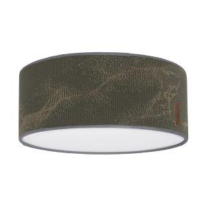 Lampe de plafond Marble khaki/olive - Ø35 cm