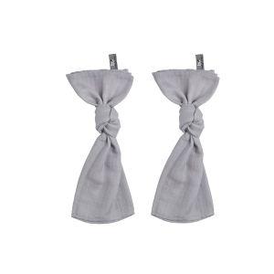Lange bébé gris argent - 65x65 - 2-pack