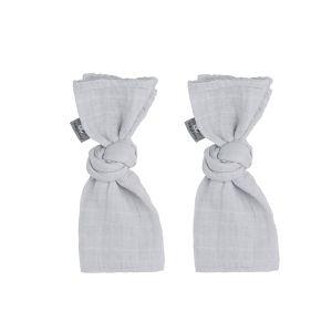 Lange bébé Sparkling gris argent - 65x65 - 2-pack