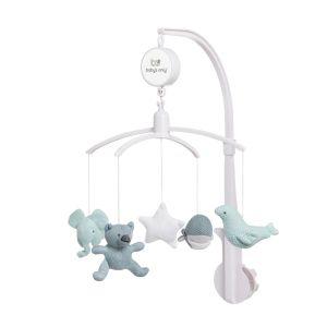 Mobiles bébé musical stonegreen/mint/blanc