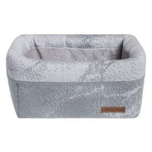 Panier commode Marble gris/gris argenté