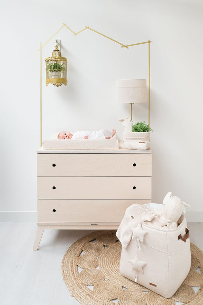 panier commode sparkle roseargent ml