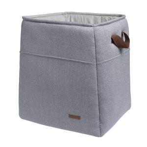 Panier de rangement Sparkle gris-argent mêlé