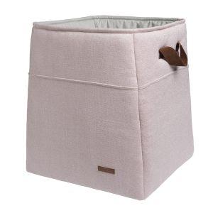 Panier de rangement Sparkle rose-argent mêlé