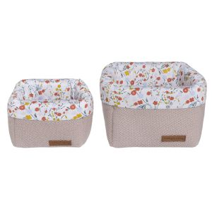 Paniers de commode Bloom vieux rose