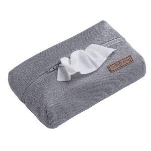 Pochette lingette bébé Sparkle gris-argent mêlé