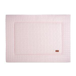 Tapis de parc Cable rose très clair - 75x95