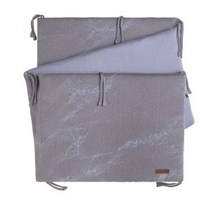 Tour de lit Marble cool grey/lilas