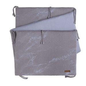 Tour de lit Marble cool grey/lilas