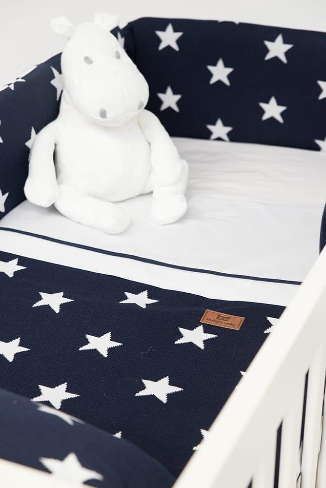 tour de lit star marineblanc
