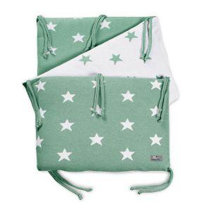Tour de lit Star mint/blanc